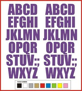 SELF ADHESIVE LETTERS stickers graphi 40mm high vinyl alphabet set A-Z Handstyle