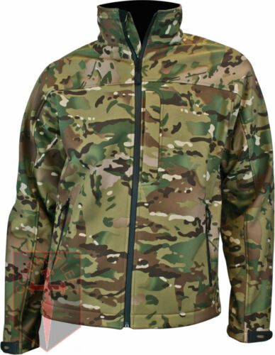 HIGHLANDER TACTICAL ODIN SOFT SHELL WATERPROOF AB-TEX ARMY JACKET MULTICAM CAMO