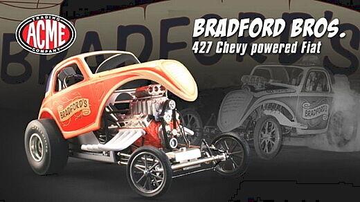 ACME BRADFORD ALTErot FIAT CHEVY 427 DRAGSTER NHRA A1800811 DRAG RACING 1 18