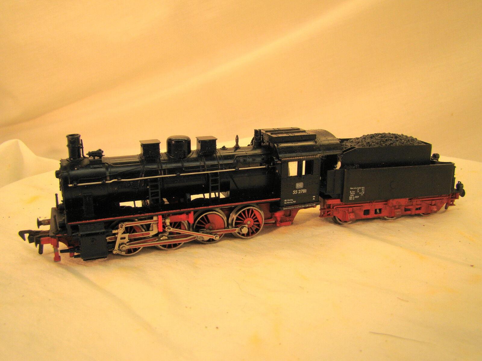 2-8-0 Fleischmann Steam Locomotive - smooth runner - completely serviced/tested
