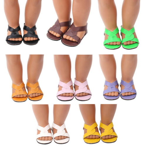 1 Pair doll shoes doll sandals for 18 inch 43cm dolls acces Christmas gift MT Pq