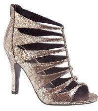 Lane Bryant Women's Metallic Bronze Heeled Sandals Size 9W MSRP $69.95
