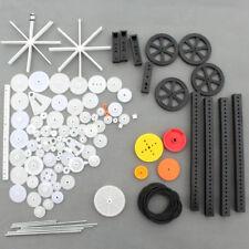 92pcs Single Double Plastic Gear Motor Rack Pulley Gearbox Model Toy Car