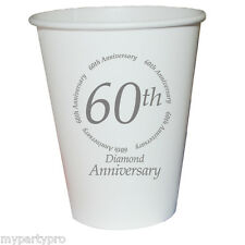 60th ANNIVERSARY PAPER DRINK CUP Party Supplies FREE SHIPPING