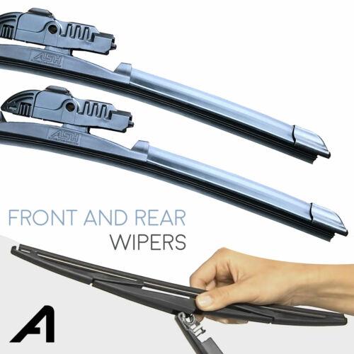 "16/""//24/"" Front /& 12/"" Rear Wiper Blades Fits Citroen C3 Picasso"