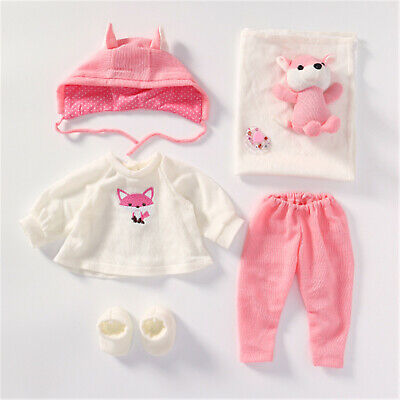 Reborn Baby Dolls Supplies Outfit Fit For 20 23 Doll Girls 7 Pcs Pink Clothes Ebay