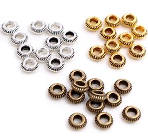 Circular Flat Beads Zinc Alloy Metal Spacer Beads For DIY Jewelry Finding 100PCS