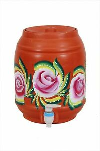 Indian traditional Water Cooler or Pot with Plastic Tap Handmade Designed
