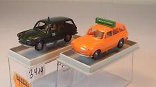 Brekina 1/87 2 x VW 1500 Variant 26511 Flughafen & 26527 Polizei Berlin OVP#3414
