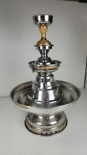 Apex Champgne Fountain Tiered Goblet Top Silver Gold Accents Punch Beverage Pap