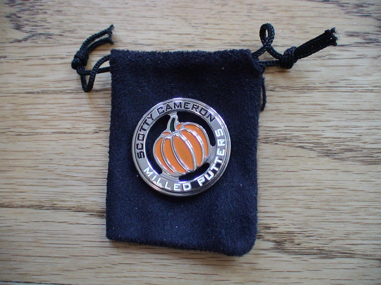 Scotty Cameron Titleist moneda de calabaza de Halloween de Marcador de Bola Muy Raro Nuevo PGA