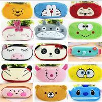 Cute Soft Plush Pencil Pen Case Bag Makeup Cosmetic Case Pouch Zipper Bag