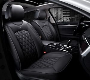 Deluxe-Black-Leatherette-Seat-Covers-Cushion-For-Audi-A4-A6-A8-Q3-Q7-Q5-S-Line