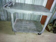 Rubbermaid 4525 Flat Shelf Plastic Service Amp Utility Cart 44l 25w 33h Guc