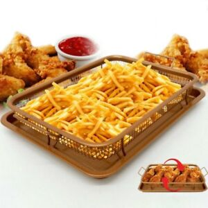 Copper Crisper Oven Air Fryer Pan Non Stick Multi Purpose