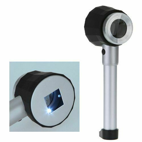 Grading Cards Handheld LED Optical Glass Magnifier with Scale Magnifying Loupe