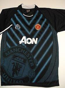 20feefb03 Manchester United FC Jersey Shirt  8~BLACK~Men s Medium to Large ...