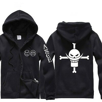 Anime One Piece Clothing Fire Fist Ace Hooded Sweatshirt Cosplay Hoodie
