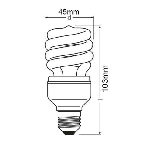 20w Mini Energy Saving Spiral Light Bulb 100w Equivalent  E27 Edison Screw