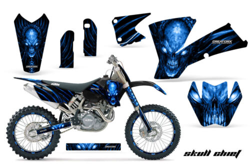 CREATORX GRAPHICS KIT FOR KTM 03-04 EXC XC 01-02 SX 125//250//450//525//520 SCBLNPR