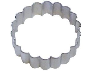 6Pcs//Set Round Plastic Scalloped Fluted Cookie Pastry Biscuit Cake Cutter Moulds