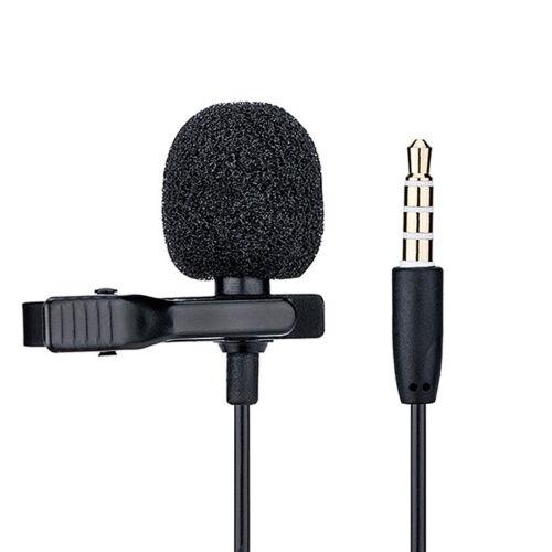 "Microphone Lambda Omnidirectionnel 3,5mm Mini-Jack Adaptateur ¼/"""