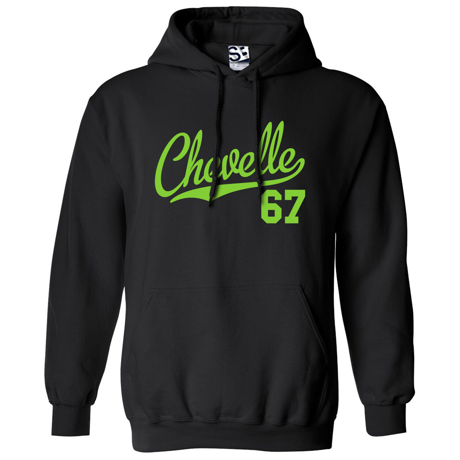 Chevelle 67 Script & Tail HOODIE - Hooded 1967 Muscle Car Sweatshirt All Farbes
