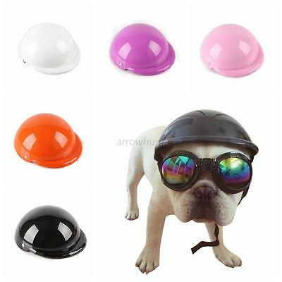 Fashion Pets Motorcycle Bike Ridding Helmets Cosplay Hat Plastic Puppy Dog Caps