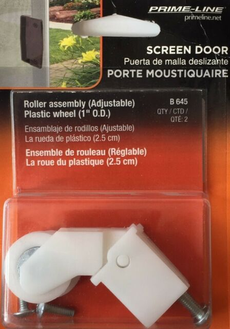 Prime Line B 645 Screen Door Roller Assembly with 1-Inch Nylon Ball Bearing 2-pk