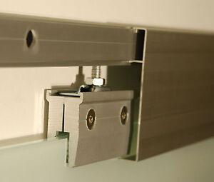 glas schiebe t r beschlag system f r 2 fl gelig l nge 406 cm ss406me47 ebay. Black Bedroom Furniture Sets. Home Design Ideas
