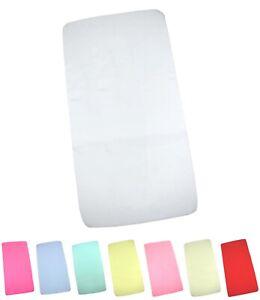 BabyPrem Pack of 2 Fitted Crib//Pram Sheets 100/% Cotton 1 White /& 1 Lemon
