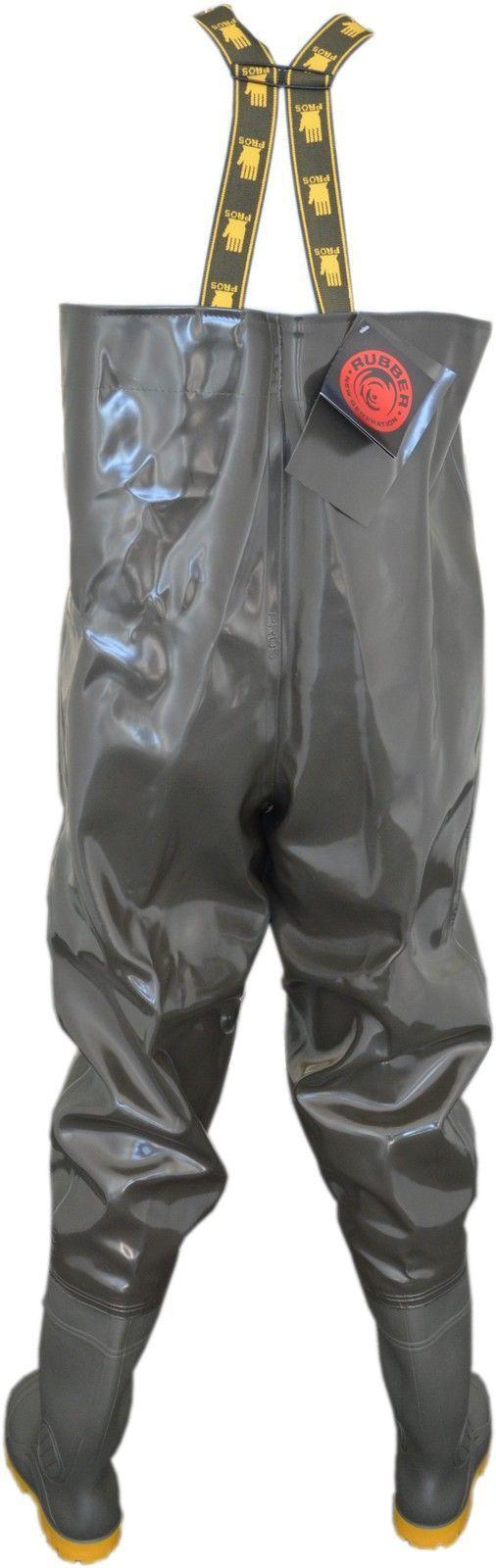 Strong Strong Strong olive PESCATORE Pantaloni impermeabili, Taglia 40 EU, RUBBER NEW GENERATION stagno Pantaloni 12d798