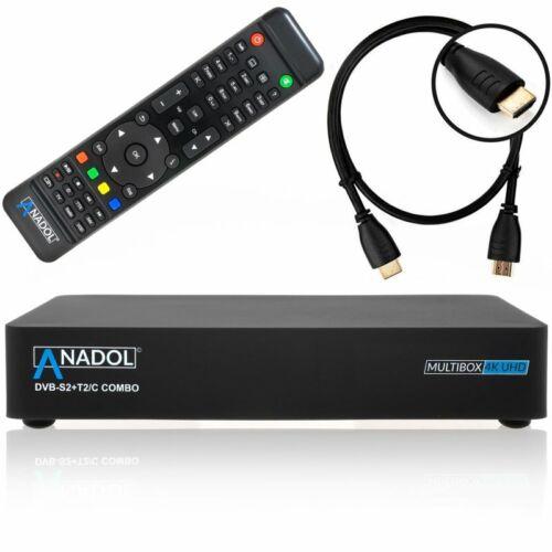 Anadol Multibox 4k UHD E2 Linux DVB-S2 Sat /& DVB-T2//C+Wlan 300 Mbit