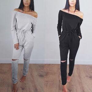 Damen-Overall-Anzug-Damenoverall-Jumpsuit-Hosenanzug-Einteiler-Top-Hosen-Bluse