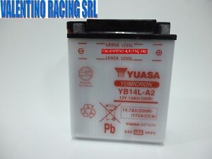 BATTERIA-YUASA-JAPAN-YB14L-A2-MOTO-GUZZI-BREVA-750-2003-2007-NEVADA-750-CL-04-08