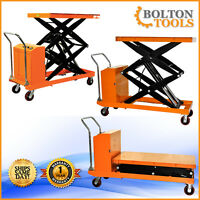 Bolton Tools Electric Powered Scissor Lift Cart Table 2200 Lb. Capacity Etf100sd