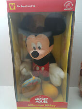 "NIB New Applause Disney Millennium Mickey Mouse 20"" Stuffed Plush #/10000"