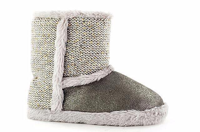 Damen Hausschuhe Socken grau Gre 36 37 38 39 41 Strick Fell Warm