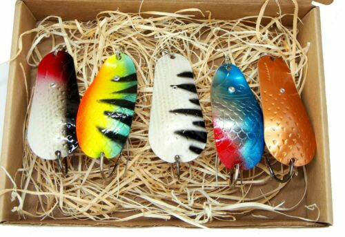 perch lure,bass spinner Weedless Fishing spoon,handmade in europe tackle 5pcs