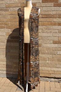 New Guld Vest Lang Jordan Mode Ved Vintage S York B133 Lee Paisley Ekstra xY6CZqwI