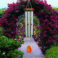 "Woodstock AMAZING GRACE LARGE SILVER WIND CHIMES,  40"" Overall Length"