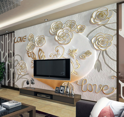 3D Butterfly Flowers Relief Paper Wall Print Wall Decal Wall Deco Indoor Murals