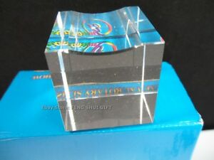 """1.5"""" for 3 to 4 inches Crystal Diamond Glass Stand Clear Base Display"""