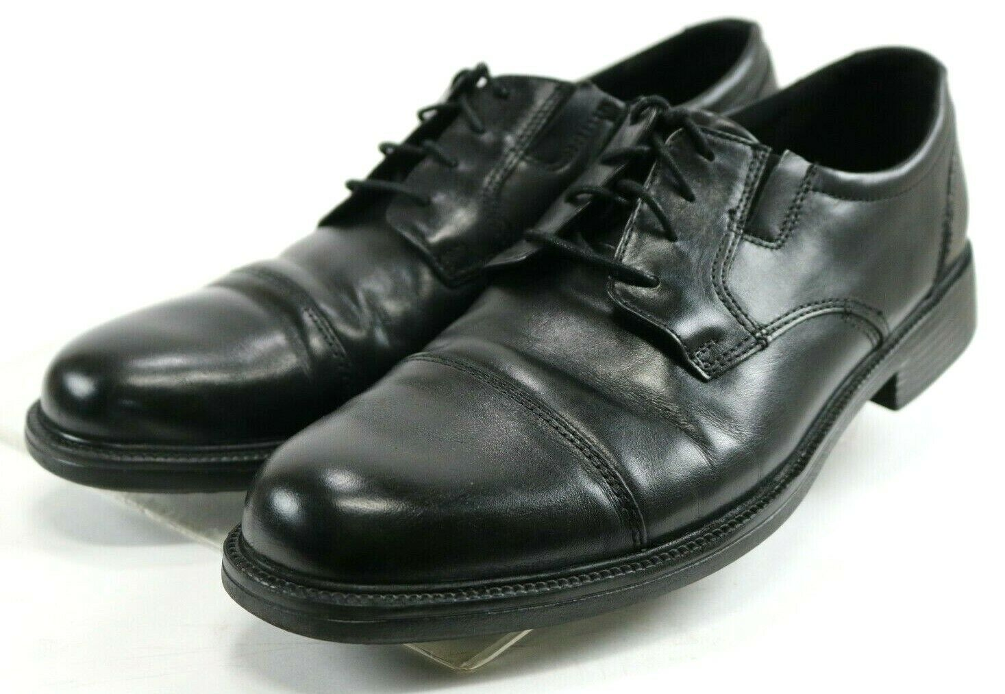 Bostonian Bardwell Limit  120 Men's Cap Toe Dress shoes Size 11 Leather Black