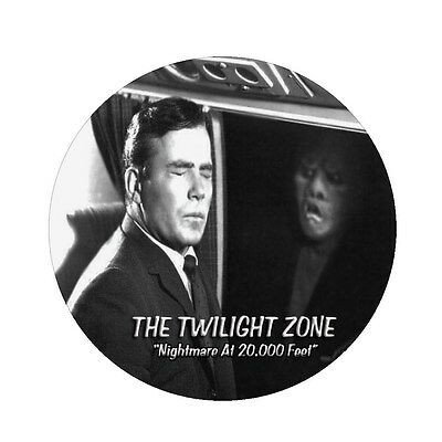 TWILIGHT ZONE MAGNET MIRROR PIN BACK BUTTON YOU CHOOSE NOVELTY COLLECTIBLE