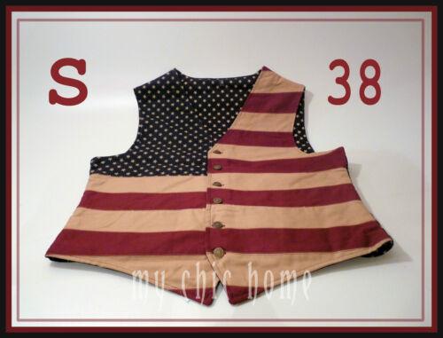 American Flag WaistcoatVestCoat  Stars n Stripes