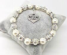 Personalised Mum Sister Bridesmaid Wedding Charm Bracelet Birthday Christmas