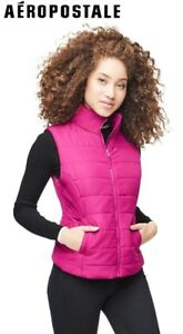 NEW-Aeropostale-Womens-Vest-Pink-Puffer-Quilted-Puff-Jacket-sizes-XS-S-M-L