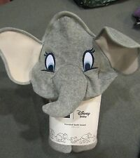 "NEW Baby Gap DISNEY BABY Gray DUMBO ELEPHANT Hooded Bath Towel 32"" x 32"""