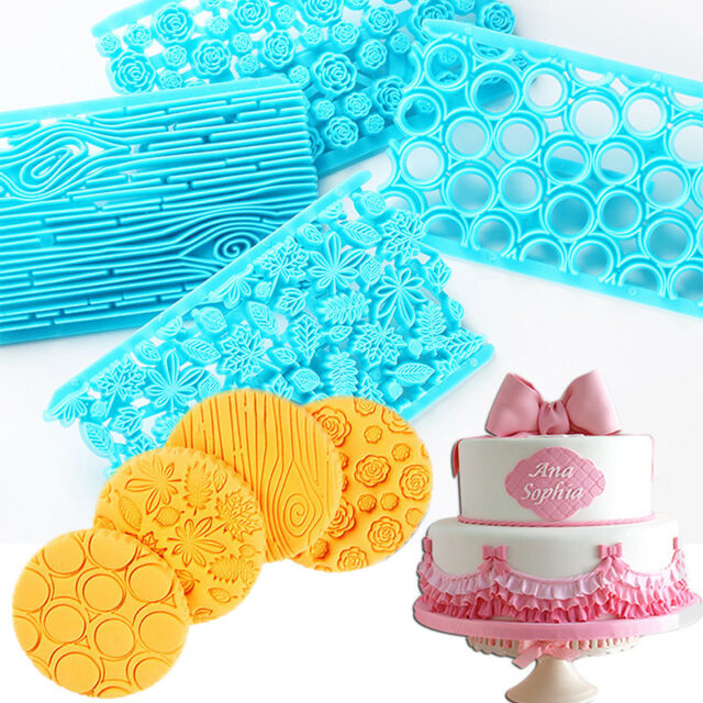 Fondant Cake Embosser Stamp Mold Cookie Cutter Embossing Icing Decor Tool